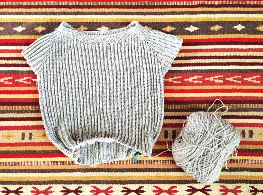 knitting with recycled yarn